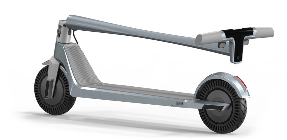 New high-end electric scooter with slick form and function