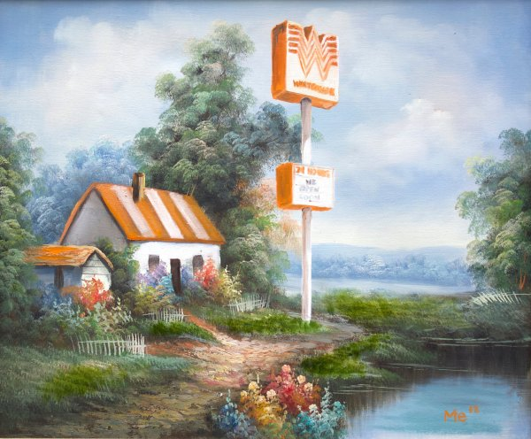 Artist Lovingly Paints Texas Fast Food Joints In Kinkade-esque Scenery Boing