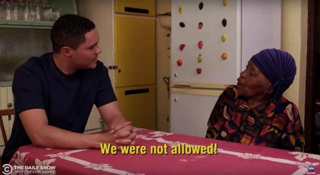 Trevor Noah's 91-year-old grandmother schools him on apartheid