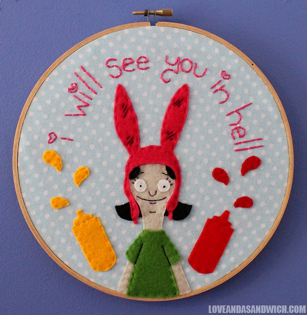 'Bobs Burgers' embroidery portraits of every Belcher family character