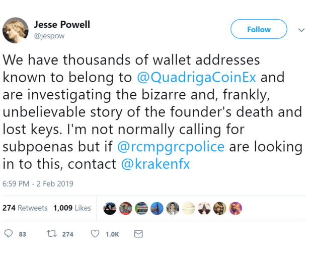 Crypto CEO dies with the password to unlock $200+ million of customers  Bitcoin