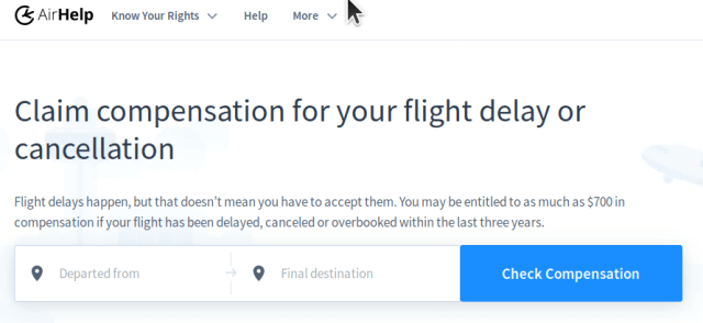 A service to help airline passengers get compensated for lost bags, delays, cancellations and overbookings