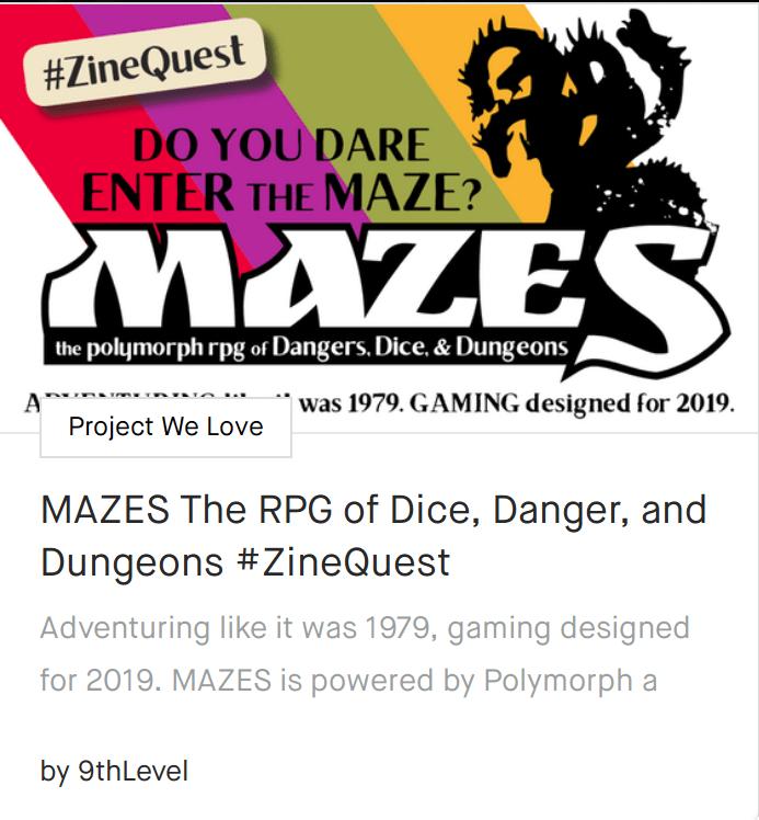 Kickstarter Challenge: make an RPG-themed zine!