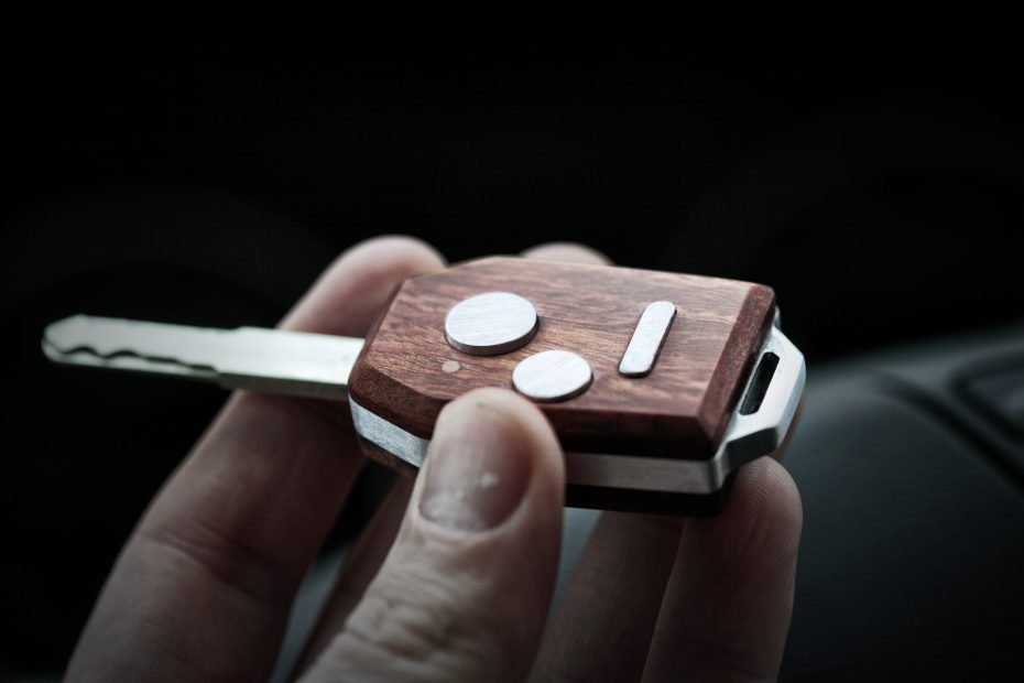 This guy made a custom hardwood and aluminum key fob for his car