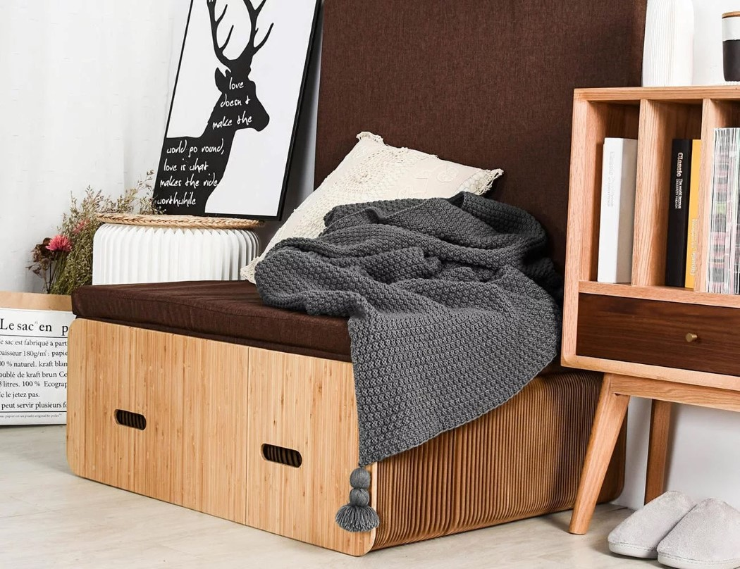 Pull up bed Small Spaces 145k And It Can Support Up To 300kg And The Manufacturer Claims Its Comfortable Albeit With The Addition Of Foam Pad via Yanko Design Ikea Hackers Pullout Bed Made Of Accordioning Paper Boing Boing