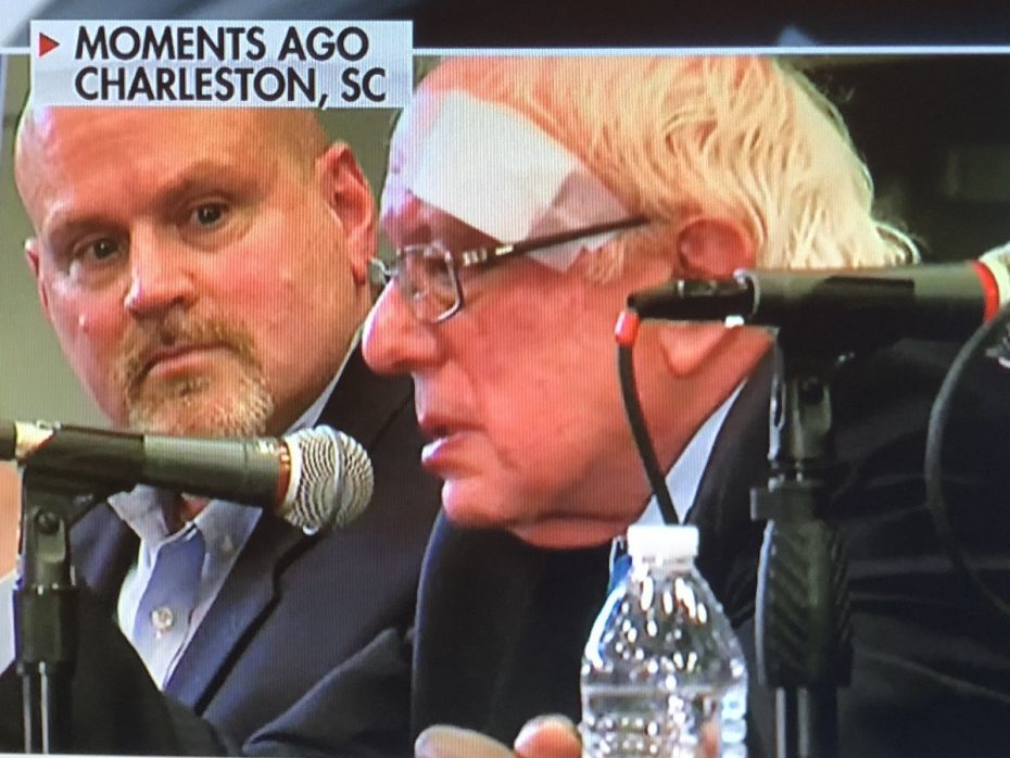 Bernie Sanders cut his head on shower door, got 7 stitches, shows up to a health care town hall 2 hours later