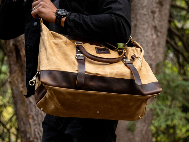 These handmade leather bags are the perfect weekend gear