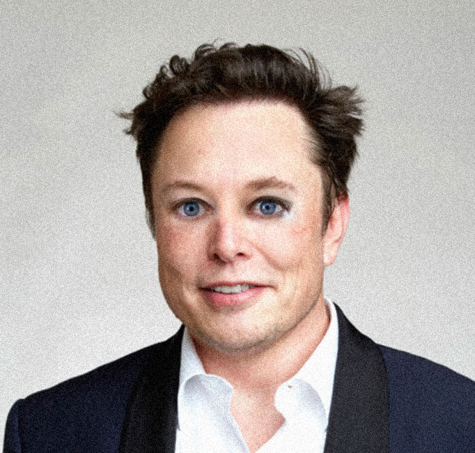 Elon Musk but with Elizabeth Holmes  eyes