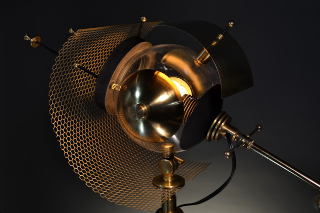 A sculptural, hand-made lamp inspired by black holes
