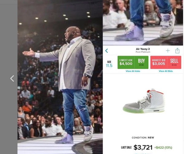 Megachurch preachers and their expensive sneakers: @preachersnsneakers IG