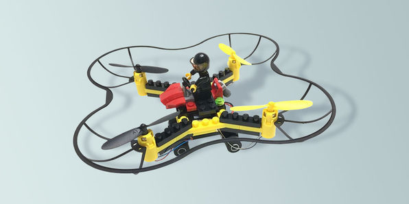 Turn your LEGO® characters into pilots with this DIY drone kit