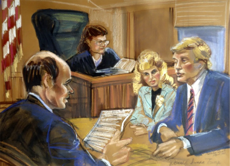 This talented courtroom artist has drawn the trials of John Gotti, Martha Stewart, and Donald Trump