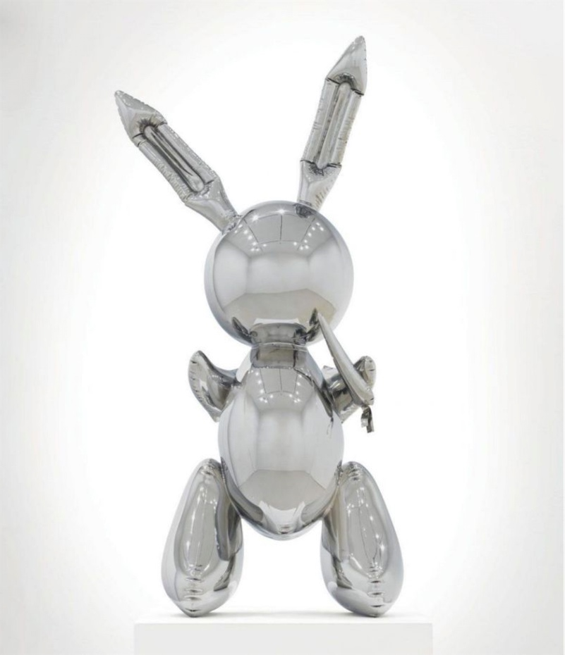 Jeff Koons stainless steel rabbit for sale