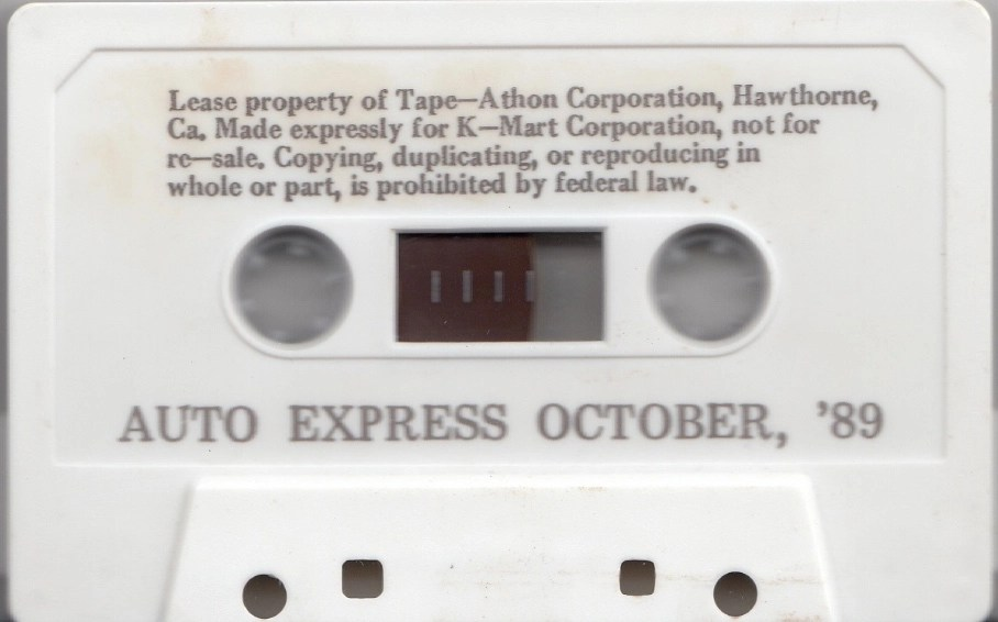 Listen: Kmart in-store music/announcements cassette from 1989