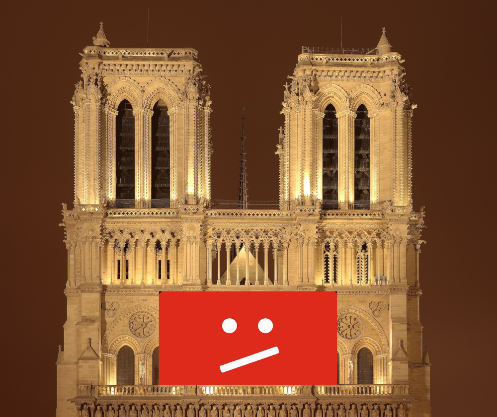Notre Dame's new dome might be copyrighted and blocked by EU filters