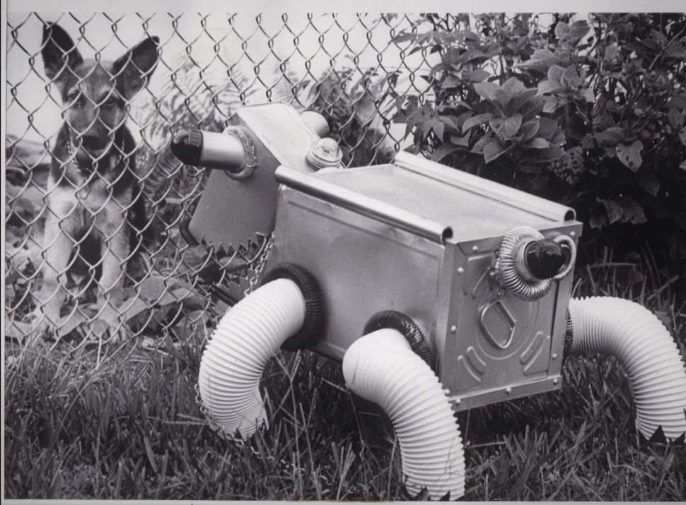 Vintage found photos of robots