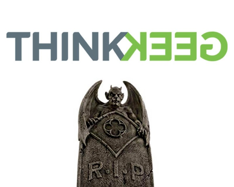 Fare thee well, ThinkGeek