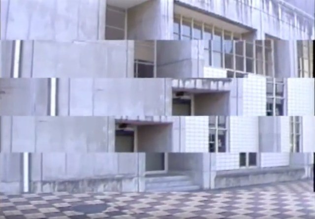 Mesmerizing 1980s experimental Japanese film using video cut-ups to deconstruct architecture