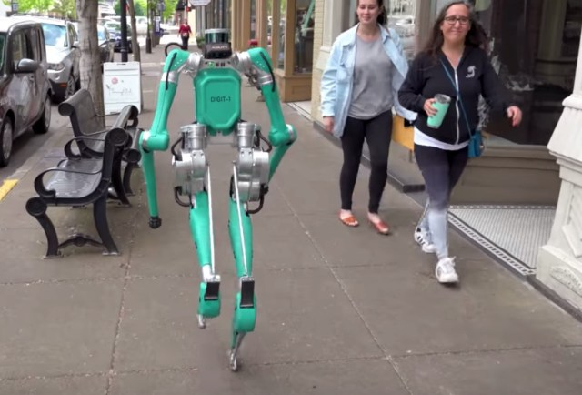 Humanoid robot goes for a stroll