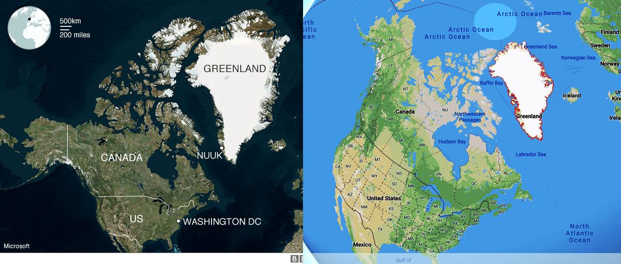 Mappa della Groenlandia - Cartina utile