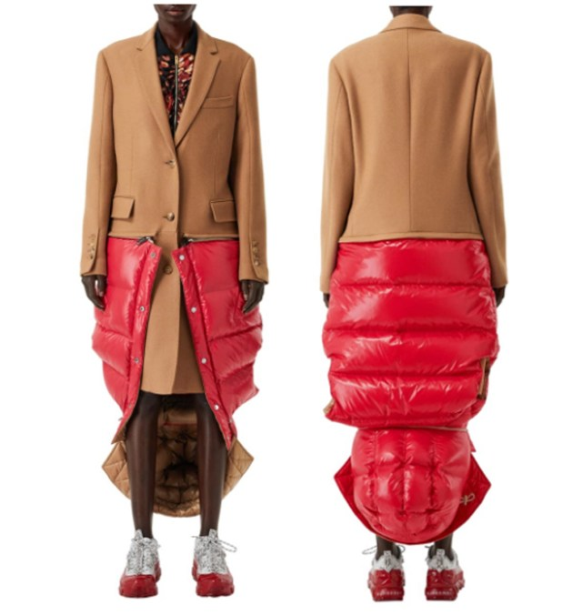 Bizarro Burberry hybrid coat/vest
