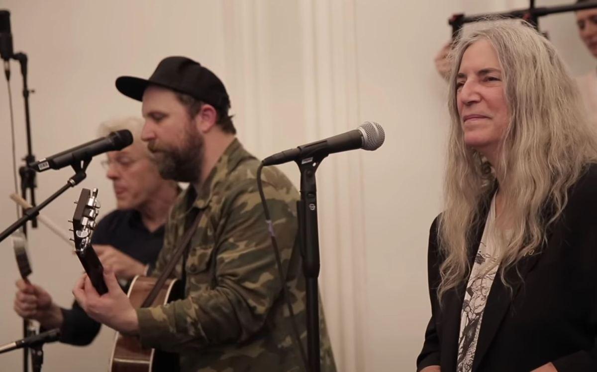 Patti Smith and Stewart Copeland join Choir! Choir! Choir! for
