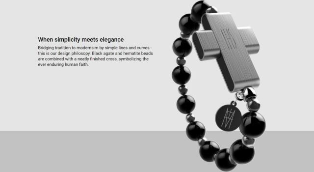 The Vatican's new electronic rosary is activated by activated by making the sign of the cross