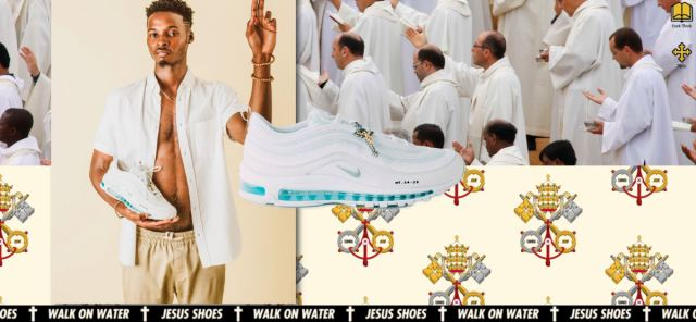 """""""Jesus Shoes"""" are Nikes laced with holy water"""