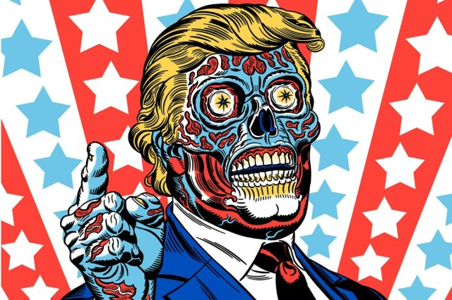 Self-style Facebook art critics review Mitch O'Connell's Times Square Trump billboard