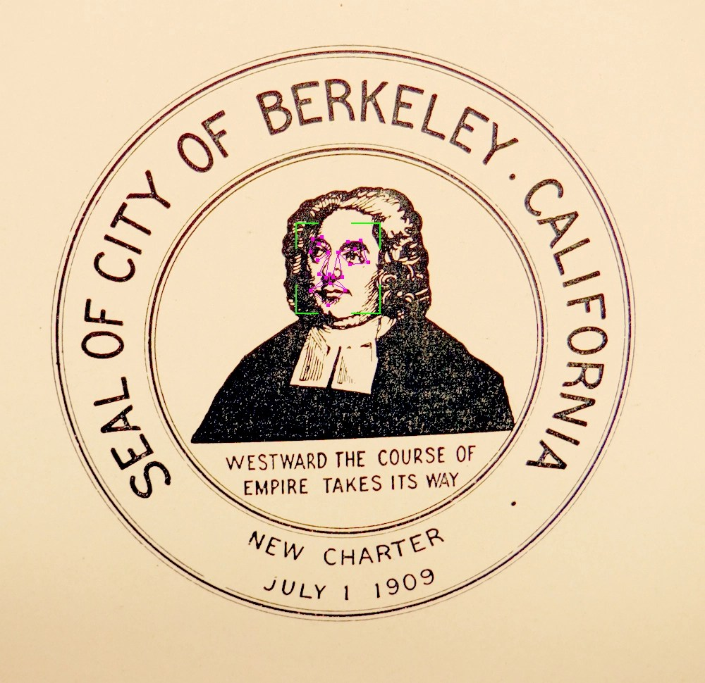 Early logo from 1933 city managers report berkeley public library