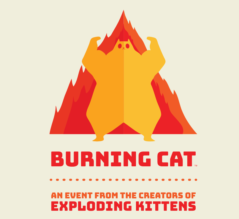Burning Cat, a new IRL gaming event by the creators of Exploding Kittens