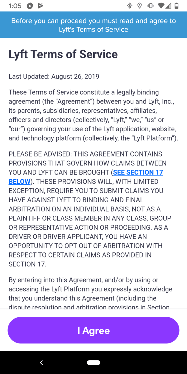 Want a ride in a Lyft? Just sign away your right to sue if they kill, maim, rape or cheat you