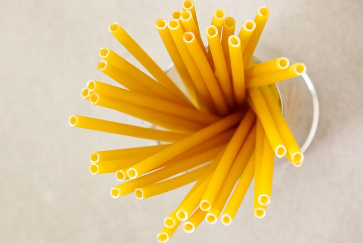 Drinking straws that are made of pasta
