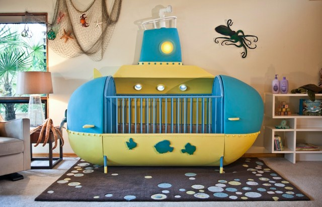 Amazing dad builds submarine crib for kid