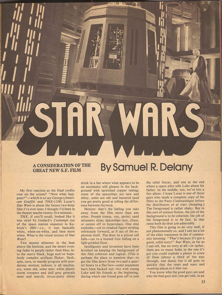 Samuel Delany s 1977 Star Wars review: why is the future so damned white and male?