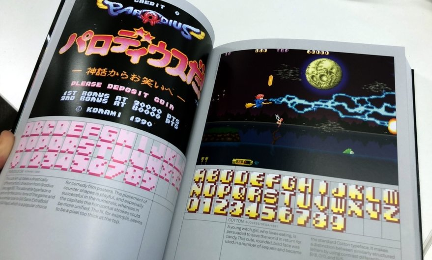 Look at this beautiful book of old arcade game typography