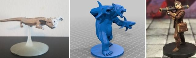 Huge selection of roleplaying miniatures available for free download, including Falkor and a bear with sharks for hands