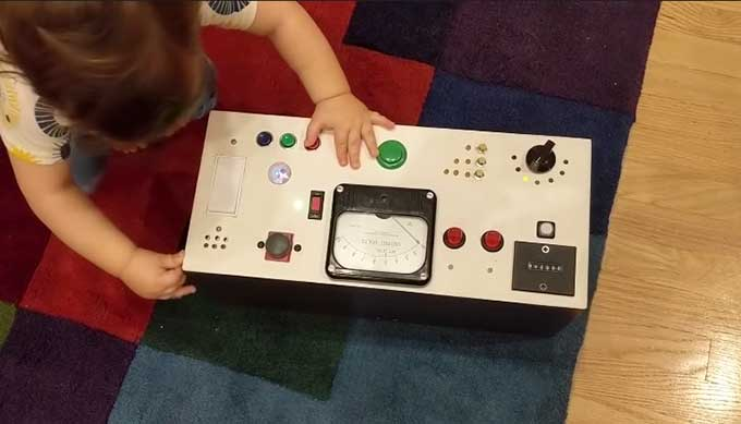 How to build a button box for a toddler