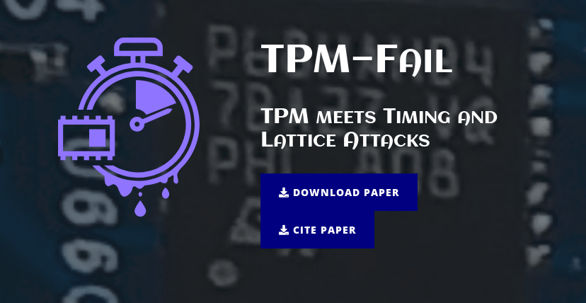 Tpmfail: a timing attack that can extract keys from secure computing chips in 4-20 minutes