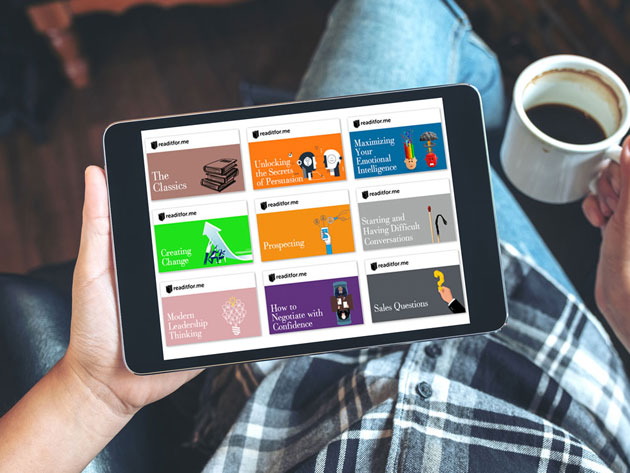 Absorb best-selling books in minutes with this reading app
