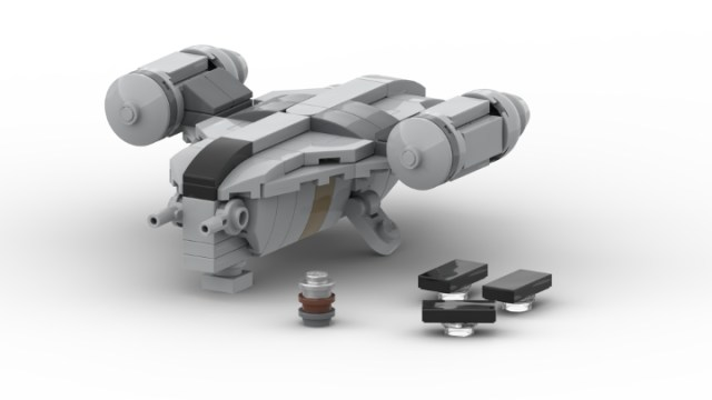 Build the Mandalorian's Razor Crest in Lego microscale