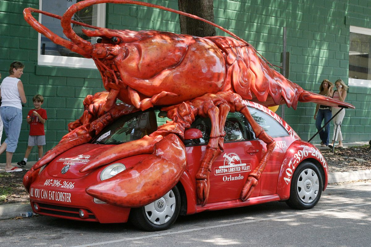 A stolen lobster truck crashed into another lobster truck, because Boston