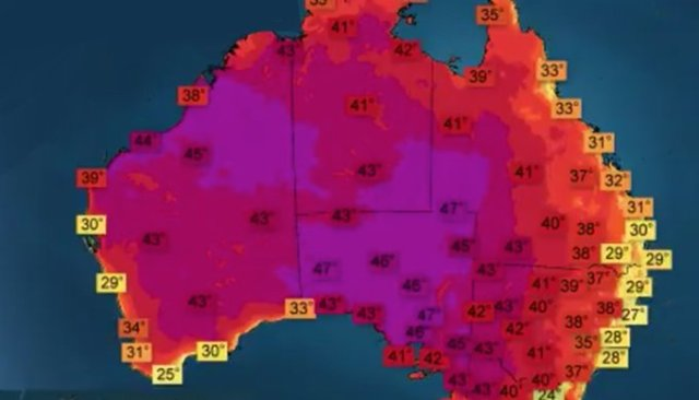 Australia just had hottest day in recorded history
