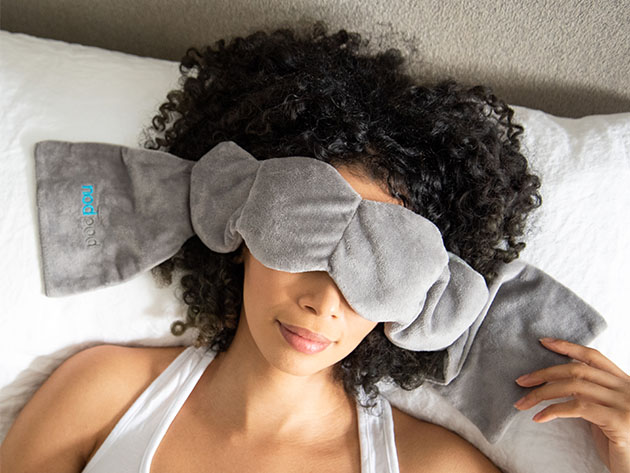 This sleep mask is like a weighted blanket for your eyes