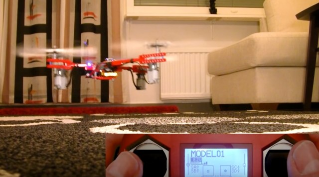 Building and testing a drone made almost entirely from LEGO parts