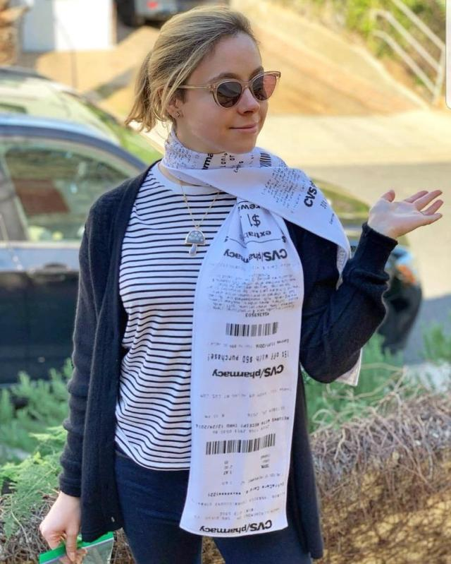 Scarves that look like those crazy-long CVS receipts