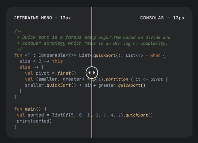 JetBrains Mono is a free, open source monospace font