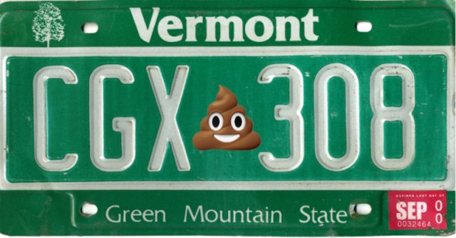 New Vermont bill introduced to permit emoji on license plates