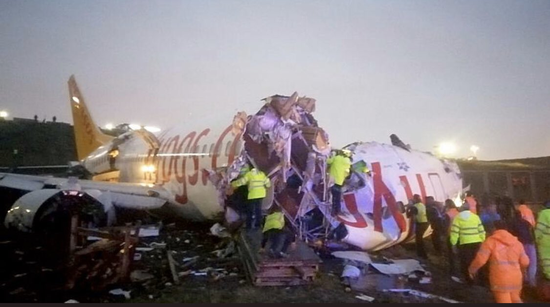 Turkey: Plane skids off Istanbul runway and breaks up, 120 injured
