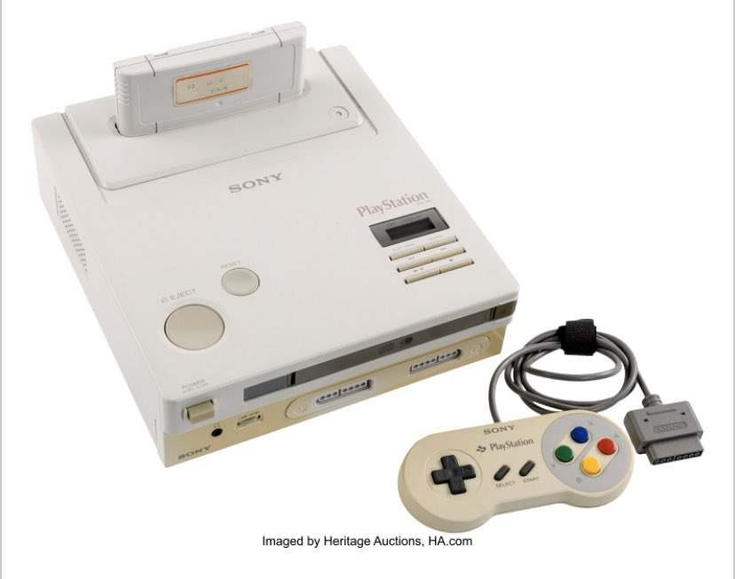 Prototype Nintendo PlayStation up for auction. Bidding's already sky high.